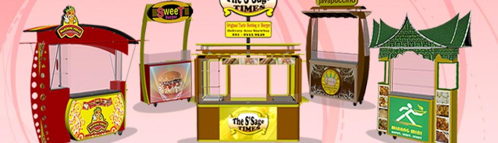Jasa Pembuatan dan Desain Rombong, Booth Counter, Booth Stand, Mini